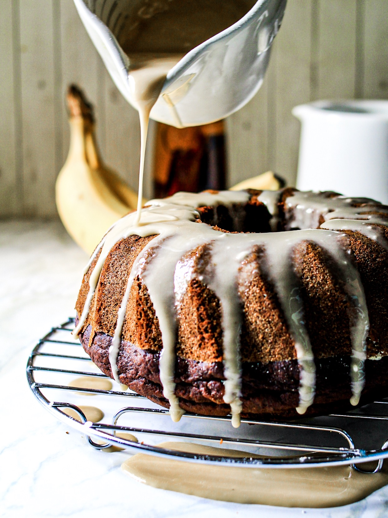 Gluten Free Chocolate Banana Bundt Cake